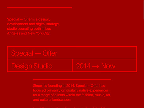 Special–Offer Studio